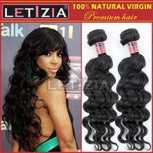 Unprocessed wholesale AAAAA virgin Peruvian hair extension