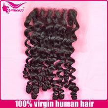 Wholesales Brazilian Wavy Human Hair silk base closure/ swiss lace Top Lace Closure
