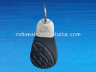 Popular Top stam Leather Keychains Chunk Key Holder/car shaped2014 promotional gift cell phone keyring/charms key ring