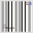 PU Coating Black and White Stripe Fabric