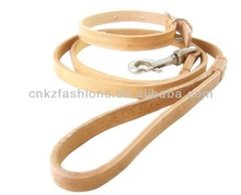 soft leather retractable Dog show lead factory