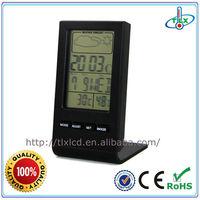 Unique Weather Station Thermometer Hygrometer Desk Alarm Clock