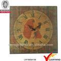 2013 nouveaux produits shabby chic mur art décoratif horloge, Fer forgé
