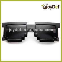 Designer 8-bit Custom Retro Pixel Sun glasses Dark Lens Pixel Sunglasses