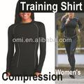 Compression wear vestuário dry fit de Fitness manga comprida compressão camisa