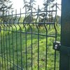 (10 years factory)High quality green pvc coated garden fence