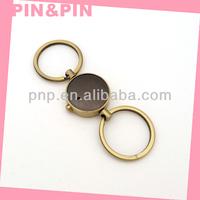 high quality blank zinc alloy brushed anti brass plating custom key holder