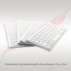 2014 HOT! ABS ultra-thin Bluetooth Wireless Keyboard for Apple iPad 2/3/4 iMac PC