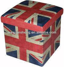 The Union Jack Folding Storage Ottoman
