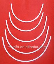 Plastic bra underwire