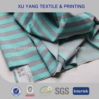 Sportswear fabric 2014 warp knitted high stretch supplex yoga fabric with stripes design by screen printing