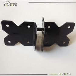 Single opening pvc fence hinge