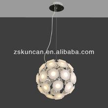acrílico lâmpada led pingente em forma de esfera