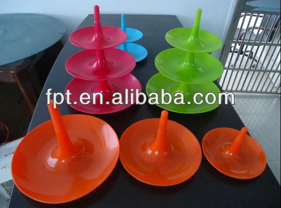 Pp platte, Gruppe von kreativen obstschale, fruchtbehälter