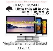 "23.6"" Core i7-4770 LED 1TB cheap multi-touch screen all in one PC/DVD built-in ,discrete Graphics , barebone all in one desktop"