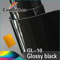 Black glossy vinyl car paint protection film