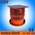 solar led aviation obstacle light / aircraft flashing warning /tower obstruction light