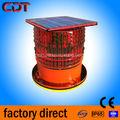 Solar led obstáculo aviación luz/intermitente de advertencia/aeronaves/torre de obstrucción de la luz