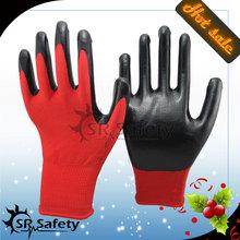 SRSAFETY 13G Knitted nylon Liner Dipping Nitrile Gloves/Work Safety Gloves