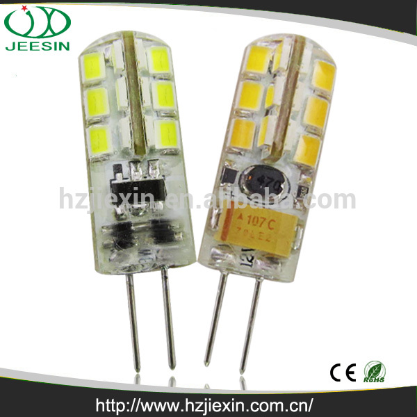 High quality 2w rohs silicon 2835 ac/dc mini smd 12v led g4