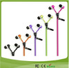 Fashionable metal zipper earphone with mic in 2014 for mobile phone