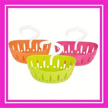 Cute design plastic basket with hook