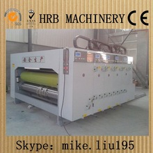 Hot sell leading edge into the paper printing and slotting machine in China