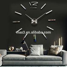 Big mirror wall clock Modern design,large decorative designer wall clocks watch 3d wall sticker clock
