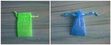 organza present pouch/circle organza gift bag/custom organza wine pouch