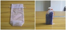 golf ball pouch/organza bag for gifts red/