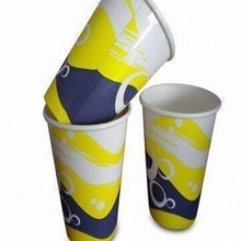 A series of good printing hot sale high-quality single wall paper cup with PE coated for cold drinks