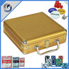 MLD-AB36 Golden High-quality Professional Aluminum Chips Poker Gambling Set