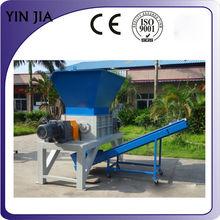 Yinjia дерево и низкая - скорость вал дробилка с выход конвейер