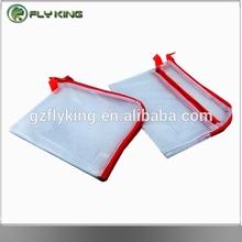 pvc mesh double zipper bag