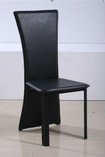 2012 New Modern black hardleather dining Chair DC4005