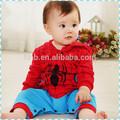 2015 bebê meninos fantasia vestido de traje do homem-aranha equipamento partido terno