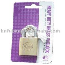Copper padlock blister packing brass padlock