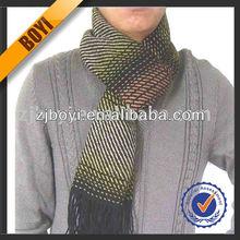 Mens Jacquard Fashionable Cashmere Scarf For Men