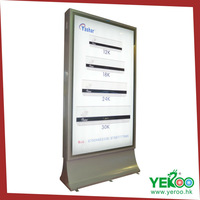 Solar Energy Panel Available Outdoor Auto Rotating Advertising Light Box