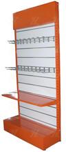 shop metal stand hat display wooden back slatwall display