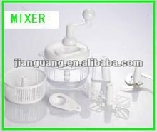 plastic white food processor plastic manual multifunctional food processor