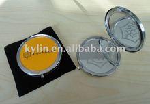 VEUVE CLIQUOT metal pocket mirror with engrave glass promotion