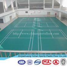 Antiskid Pvc Sports Flooring For Indoor Badminton