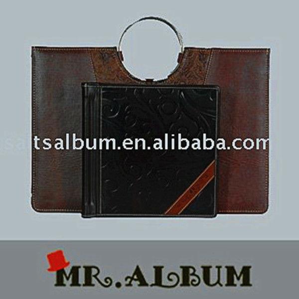 Leather photo album hand bag