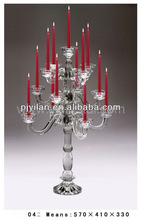 new design cheap wedding crystal candelabra