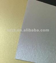 metallic HPL/Aluminum foil HPL sheet/Silver brushed4*8/compact laminate