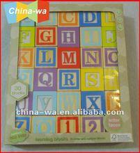 30pcs wooden learning alphabet blocks