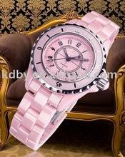 Top Brand Ladies Pink Ceramic Watch Wholesale