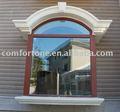 exterior arco ventanas de madera