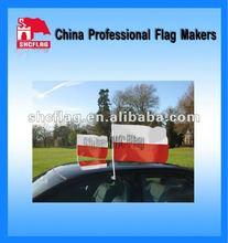 2012 Cheapest!Poland car side wing mirror cover flag and custom car flag!